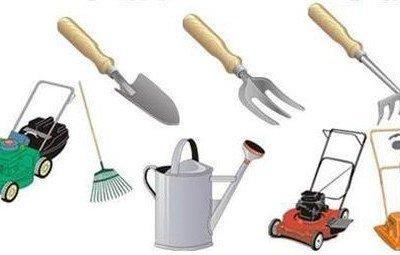 Инструменты и инвентарь для сада и огорода.