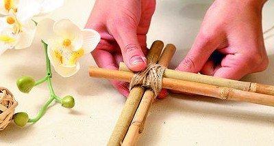 Кашпо из бамбука своими руками
